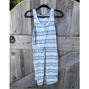 The North Face Gray striped dress S
